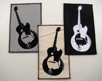 One Guitar patch in any color you choose....FREE SHIPPING USA