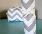 BLACK FRIDAY CYBER Monday Makeup and Cosmetic Brush Holder in Grey Chevron