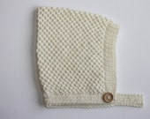 Hand Knitted 'Roux' Vintage Pixie Hat sizes to fit NB to 36M baby boy or girl Custom Colour choice Made to Order.