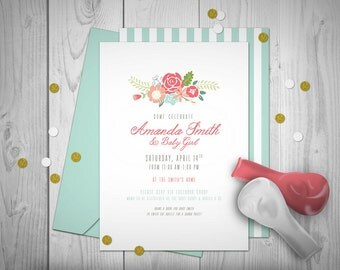 Bohemian Peonies Party Printables // Custom Invitation // Print-it-Yourself
