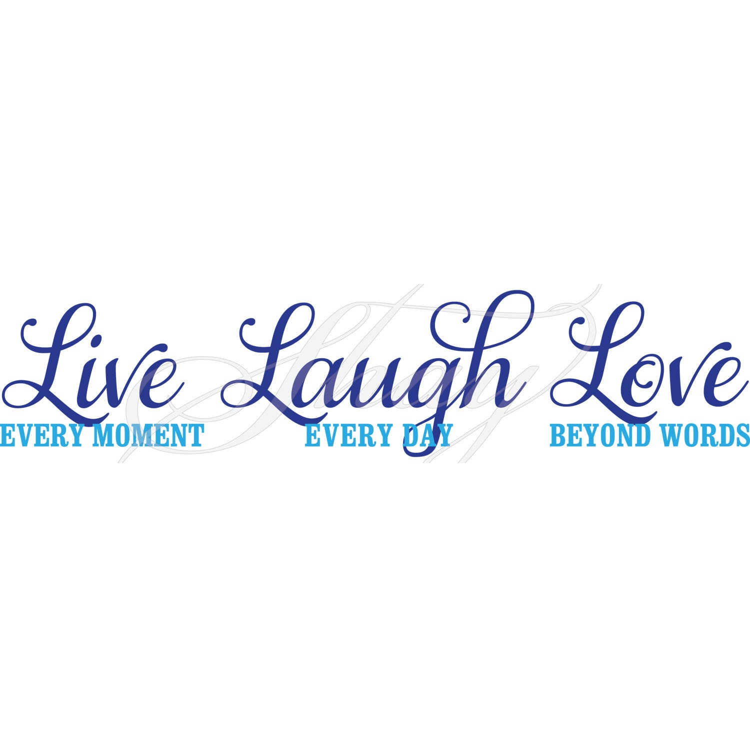 Download Live Laugh Love SVG cut file for Silhouette and other