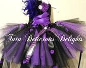 READY TO SHIP! Size 6-7 Ursula Purple Black Tutu Dress~ Mermaid Tutu Dress~Mermaid Party~ Under The Sea~Pageant Dress~Mermaid Costume