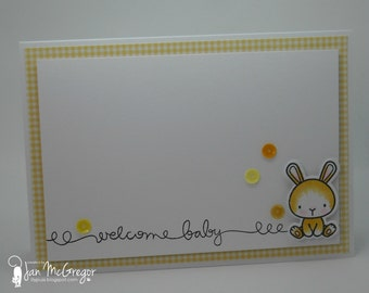 OOAK Clean & Simple Handmade Greeting Card.