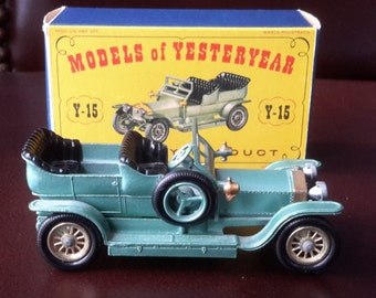 Lesney 1907 Rolls Royce Silver Ghost #Y-15 Models of Yesteryear Made in England with Box !