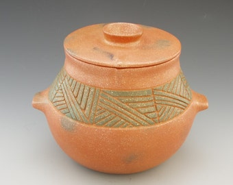4 1/2 Quart Micaceous Bean Pot