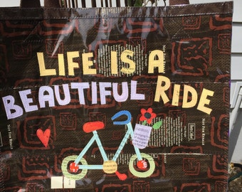 Life Is A Beautiful Ride tote
