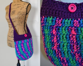 SALE Crochet Cross Body Bag Crochet Boho Bag Crochet Hobo Bag Hippie Purse Knit Sling Bag Crochet Hobo Sling Handmade Purse Crochet Bohemian