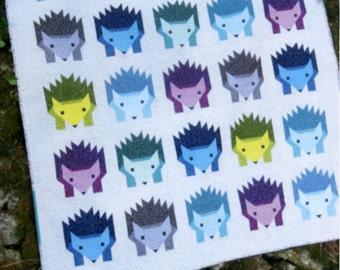 Hazel Hedgehog Quilt Pattern by Elizabeth Hartman
