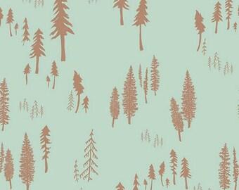 Art Gallery Fabrics - Hello, Bear - Timberland Dew by Bonnie Christine