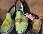Custom Vans Brand The Legend of Zelda NES Canvas Shoes