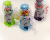 Classic Gumbal Machines Colorful Wedding Party Favors Miniature Candy Dispensers.