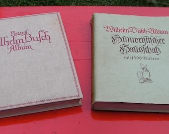 1920's Wilhelm Bufch Books IN GERMAN Cartoonist Humorist Poet Illustrator Painter