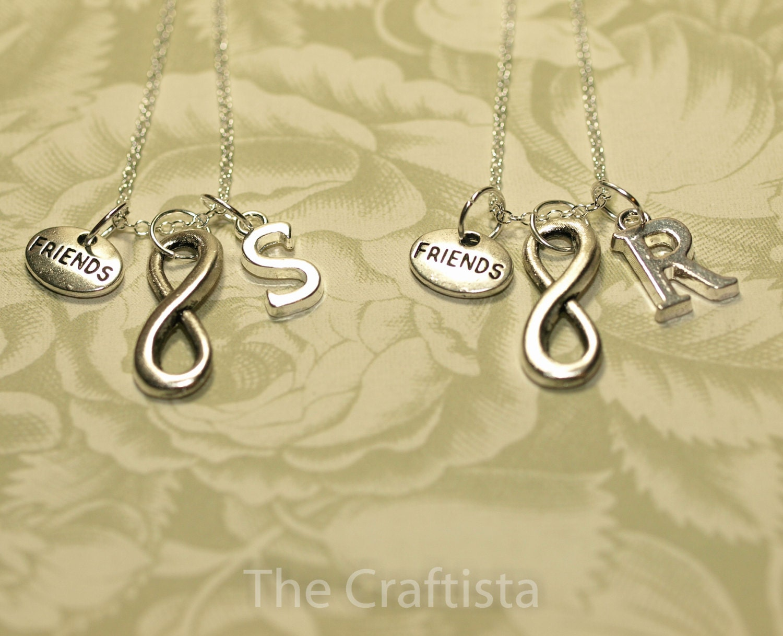 2 best friend necklaces 2 friendship necklaces infinity