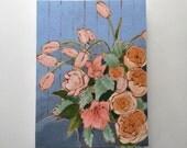 Still life flowers wall art painting home decor tulips - Memories of Carolina