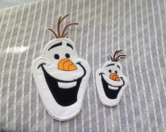 FROZEN Happy OLAF Head Appliqué