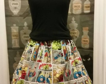 Marvel Comic Strip cupcake skirt SALE ready to ship