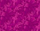 Bright Magenta Fabric, Essentials by Wilmington Prints, Pink Fabric, Pink Floral Fabric, Pink Scroll Fabric, 10215