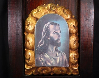 Picture of Jesus, Christian Art, Vintage Icon Jesus Christ, Religious Art, Wall Decor, Vintage Art, Home Decor, Collectibles