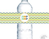 CUSTOMIZABLE Water Bottle Labels / Napkin Rings - Trampoline Party Collection - Mirabelle Creations