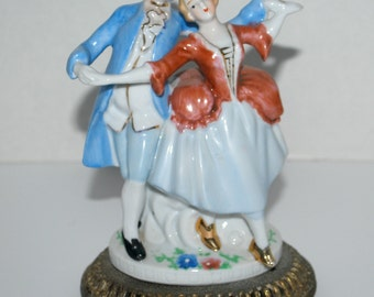 porcelain  couple figurine 17th century  style    c& s NY Lighting co  vintage porcelain