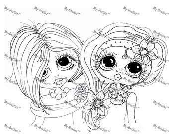 INSTANT DOWNLOAD Digital Digi Stamps Big Eye Big Head Dolls Besties Digi The Girls By Sherri Baldy