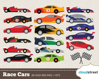 20% OFF Race Cars clip art for personal and commercial use ( nascar rally f1 racing cars clipart ) - racing car vector graphics