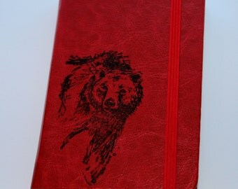Rustic Grizzly Bear Journal Sketchbook Diary Pocket Journal