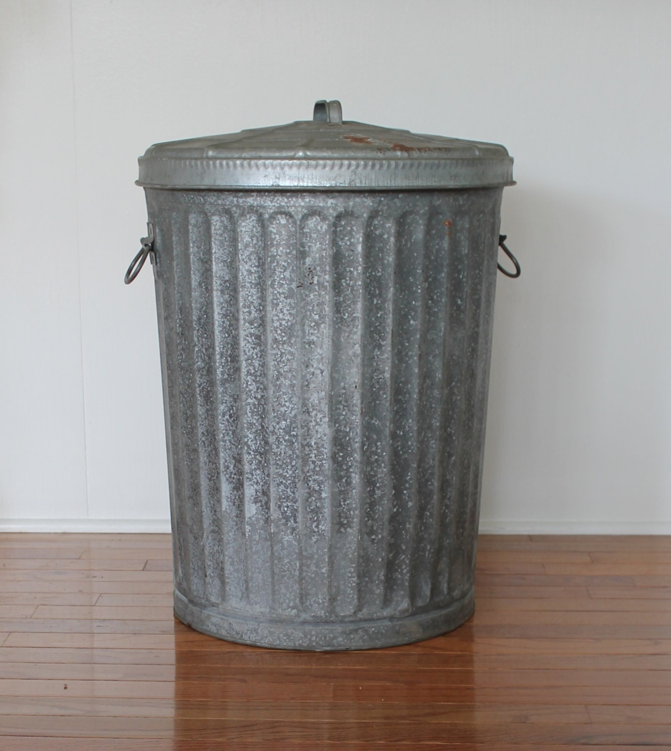 galvanized trash can vintage galvanized wheeling metal garbage bin storage can 28544