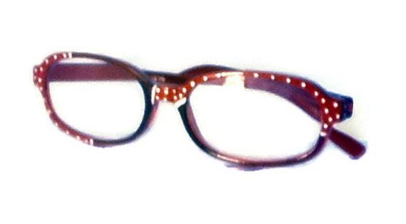 Zenni Optical Polka Dot Glasses : White Polka Dot Reading Glasses. 275 Strength. by Starality