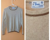 Forest Fawn Wool Crew Neck Sweater 1960s SM