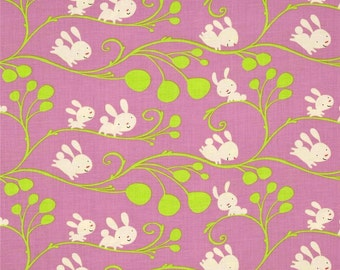 Free Spirit - David Walker Fabric - Garden - Vines -Lilac - Choose Your Cut-1/2 or Full Yard