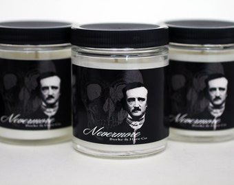 Edgar Allan Poe - Scented Candle - Nevermore - Goth Candle