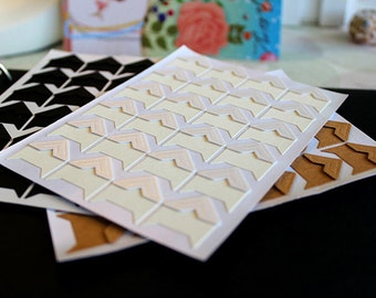 White Photo Corners Stickers - 3 Sheets 72pcs, Scrapbooking Embellishment, DIY Journal Stickers, Diary Photo Album, Self-Adhesive