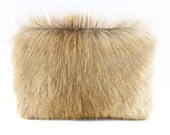 BACK IN STOCK - Fur Mini Statement Clutch | Calf Hair | Cowhide | Makeup Bag | Coin Purse | Handbag | Handmade