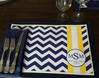 Personalized Graduation Placemats
