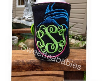 Can/Bottle wrap in the hoop embroidery design 7 x 12 (FONT NOT INCLUDED)