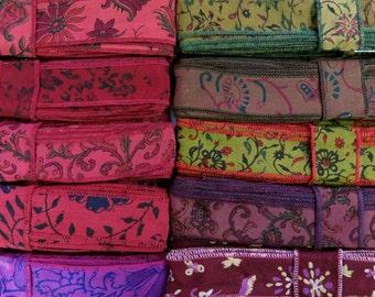 Silk Ribbon, Silk Trim, 33 Yards, 10 colours. A59