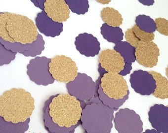 Purple and Gold Confetti    Purple and Gold Party    1st Birthday Decor    Table Decor    Candy Buffet Decor    100 CT