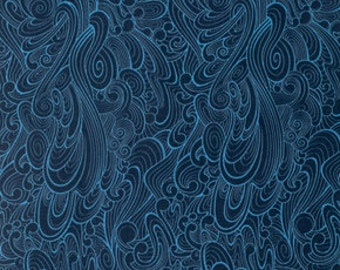 True Colors - Making Waves in Navy - Tula Pink for Freespirit - PWTC030.NAVYX - 1/2 Yard