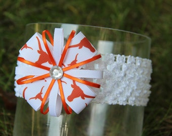 Texas Longhorns Headband Hair Bow Longhorns Headband UT Baby Headband