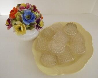 Vintage Plastic Spiky Eleven Flower Frogs, Floral Arranging, Florist Supplies, Home Decor, Craft Supplies, Circa 1940's