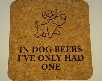 "4"" Square Cork Beer Coaster"