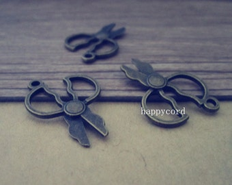 20pcs Antique bronze Scissors  Charms 19mmx28mm