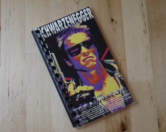 Handmade The Terminator Schwarzenegger 1984 Movie Re-purposed VHS Cover Notebook Journal