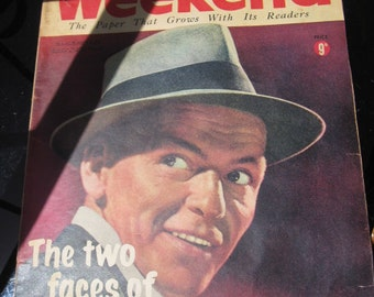 1958 Weekend Magazine ~ Frank Sinatra on cover ~ certificate of authenticity