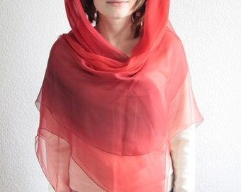 Pomegranate & Poppy Silk Scarf