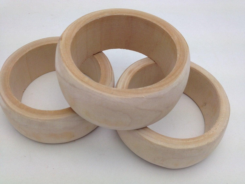 3 unfinished wooden bangles wood bracelets