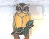 Stained Glass Owl Nightlight on Branch