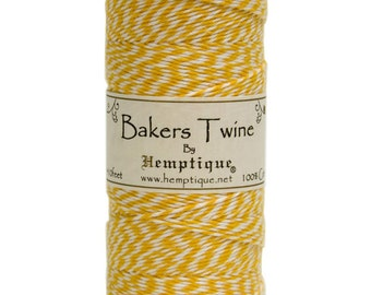 Yellow and White Cotton Bakers Twine for Packaging, Etc. 410 Feet - Natural and Eco-Friendly