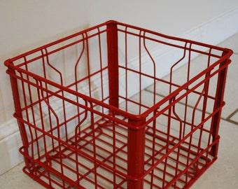 VINTAGE MILK CRATE Industrial Decor Milk Crate Storage